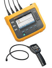 Fluke 1736 Portable Power Logger Kit With R8100 Borescope