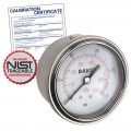 Baker AHNC-1000P Pressure Gauge, 0-1000 PSI with NIST Traceable Certificate