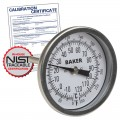 Baker T30025-550 Bimetal Thermometer, 50 to 550°F (0 to 260°C) with NIST Traceable Certificate
