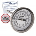Baker T3004-250 Bimetal Thermometer, 0 to 250°F (-20 to 120°C) with NIST Traceable Certificate
