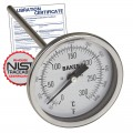 Baker T3006-550 Bimetal Thermometer, 50 to 550°F (0 to 260°C) with NIST Traceable Certificate