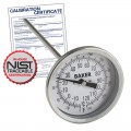 Baker T3009-250 Bimetal Thermometer, 0 to 250°F (-20 to 120°C) with NIST Traceable Certificate
