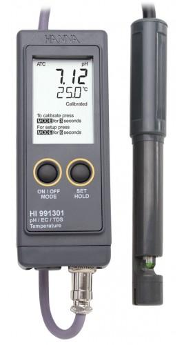 Hanna Ph Meter : Hanna instruments hi portable ph ec tds temperature