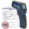 REED R2002 Compact Infrared Thermometer, 8:1, 932°F (500°C), includes NIST Traceable Certification