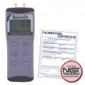 REED 82100 Digital Manometer, Gauge / Differential, 100psi, includes NIST Traceable Certification