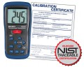 REED ST-610B-NIST Type K Thermocouple Thermometer, -58 to 2000°F (-50 to 1300°C) and 223 to 2000 Kelvin, includes NIST Traceable Certification
