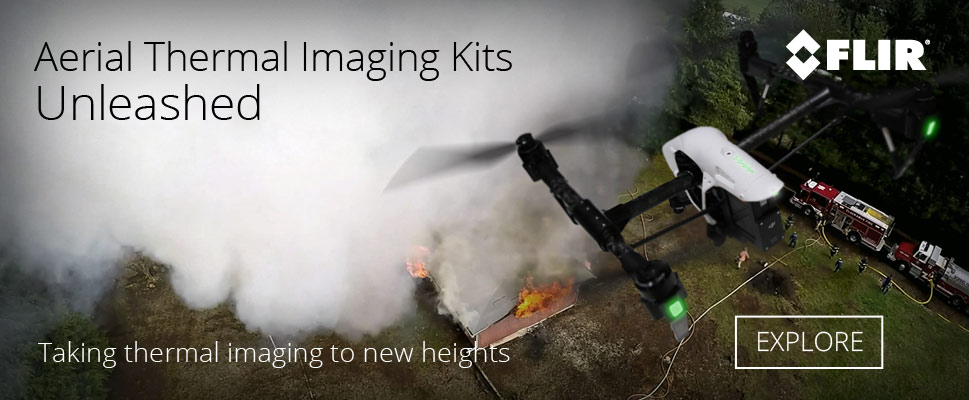 Ready to fly aerial thermal imaging packages for professional operators. Drone-based thermal imaging for Fire Fighters, First Responders and Building Inspectectors