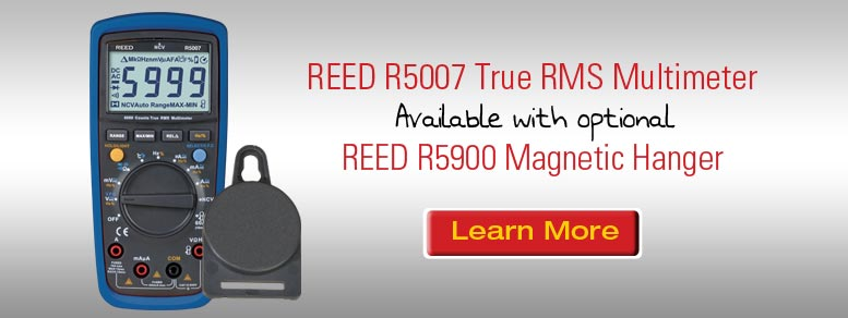 Learn more about our REED R5007 Multimeter with the optional REED R5900 Magnetic Hanger
