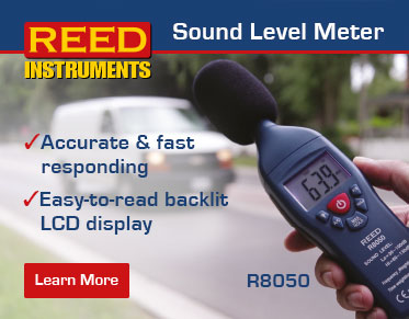 The REED R8050 sound level meter provides accurate and fast responding results and features an easy-to-read backlit LCD display.