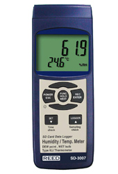 REED SD-3007 Thermo-Hygrometer Data Logger