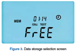 Figure 3: Data storage selection screen