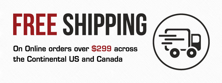Receive Free Shipping on Orders Over $299