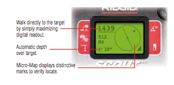 RIDGID 19238 NaviTrack Scout® Locator includes Case & Mark Chips