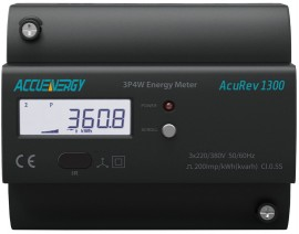 AccuEnergy AcuRev 1312-RCT-X0 DIN Rail Multifunction Power/Energy Meter,  Rogowski Coil CT, No Additional I/O