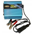 AEMC 2135.43 Inverter for Vehicle Use, 12V DC to 120V AC, 200 Watts-