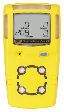 BW GasAlertMicroClip X3 Multi-Gas Detector Series, 3 Year -