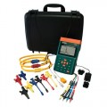 "Extech PQ3350-3-NIST 3-Phase Power & Harmonics Analyzer with 24"" Flexible Current Clamp Probes,  -"