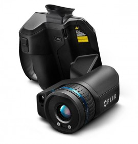 FLIR T860SC High-Performance Thermal Camera with 14, 24, and 42° lenses as well as a viewfinder and ResearchIR Max, 640 × 480-