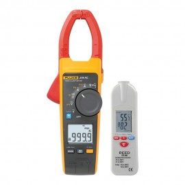 Fluke 376 FC True RMS AC/DC Clamp Meter Kit - Includes the R2001 IR Thermometer for FREE-