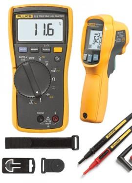 Fluke 116 62 MAX HVAC Multimeter And IR Thermometer Combo Kit