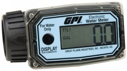 "GPI 113255-4 (01N31GM) 1"" NPT Nylon Water Flow Meter, 3 to 30 GPM-"