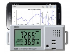 HOBO MX1101 Temperature/Relative Humidity Data Logger, Bluetooth-