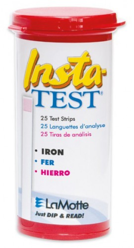 LaMotte 2935-G Insta-TEST Iron Test Strips, 0 to 5 ppm, 25-pack-