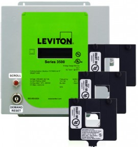 Leviton 3KUMT-01M Indoor kWh Meter Kit, 100A with 3 Split Core CTs