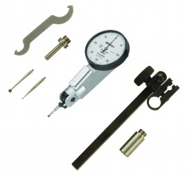 Mitutoyo 513-304GT Series 513 Full Universal Dial Test Indicator Set, 0.8 mm, 0.01 mm graduation-