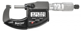 "Starrett 795.1XRL-1 Electronic Micrometer with SPC output, 0 to 1"" range, 0.00005"" resolution-"