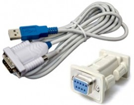 TSI/Alnor 5000-RS232 USB-A to RS-232 Cable for 5000 flowmeters-