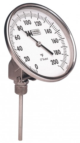 Weiss 5VBM6 550 Bi Metal Thermometer With A 6 Stem 50 To 550F 0 260C