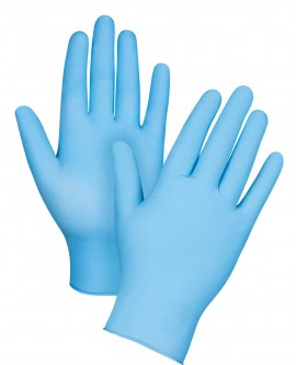 Disposable Nitrile Gloves M, Blue Latex-Free Powder-Free Inspection Gloves M Texture Disposable Gloves