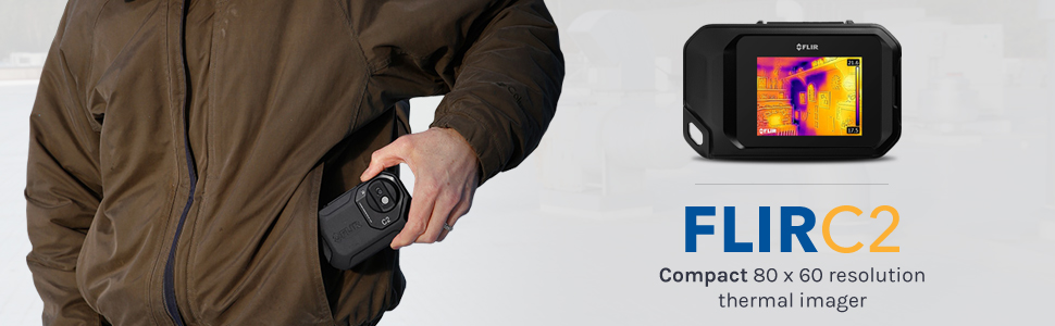 The FLIR C2 is a compact thermal imager, designed for the pockets of building professionals