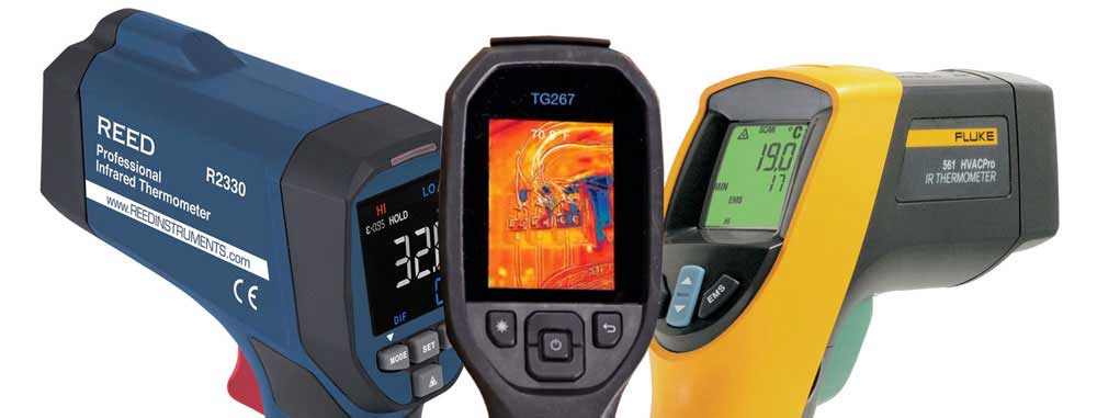 Infrared thermometers that could determine body temperature